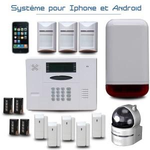 L alarme maison optium ka440w alarme maison sans fil for Alarme maison internet